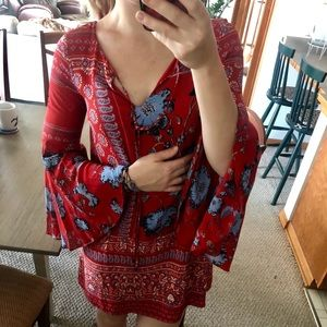 Beautiful red dress from Anthropologie